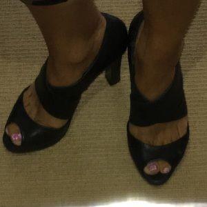 J Crew black heels size 5